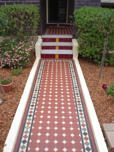 Edwardian Tiles Path Steps And Front Porch